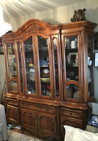brown wooden china cabinet with cabinet San Mateo, 94403