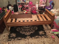 Looking to trade or sell!  This beautiful solid oak single sleigh bed Red Deer, T4P 1P3