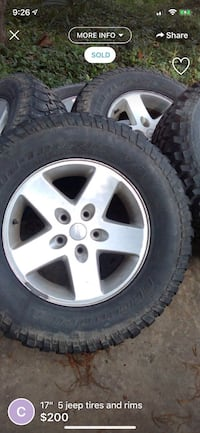 Jeep rims fairly new tires 17 inch Lafayette, 70508