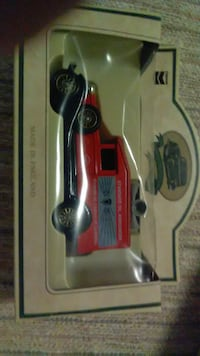 "3 Die-cast replica toys. Standard Oil Announcer toy car. 3"" at widest point & 2 "" tall at tallest point. Atlas Tire toy 3 "" wide & 2"" tall at widest & tallest points.  HONOLULU"