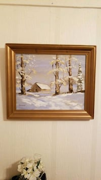 Oil Painting- Winter Landscape (local artist) Indianapolis, 46268