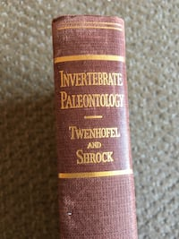 1935 Antique&Rare Invertibrate Paleotology Hardcover Book 1st Ed Calgary, T2R 0S8