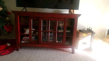 Wooden Storage Chest with Shelves