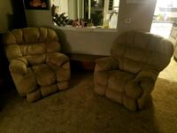 brown fabric 3-seat recliner sofa Thornton, 80229