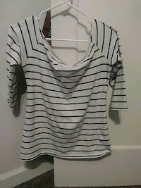 white and black stripe scoop-neck shirt Fresno, 93702