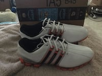 Adidas Tour 360 golf cleats Pair of white adidas low-top sneakers Mobile, 36695