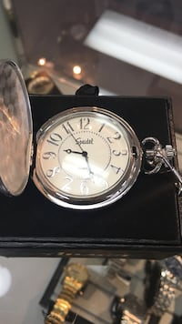 silver-colored pocket watch Grafton, 23692