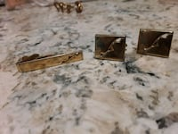 1960s cufflinks and tie clip Panama City, 32401