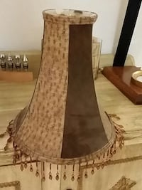 lamp shade real leather, fancy