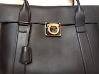 Brand New Salvatore Ferragamo Black Hand bag+ removable pouch Bag Size: 38x28x12 cm Pouch Size: 21x15.5 cm Markham