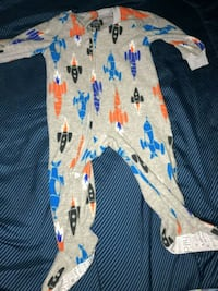 baby's white and blue footie pajama Gaithersburg, 20878