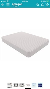 Signature Sleep Memory Foam Contour Encased Mattress, Queen, White