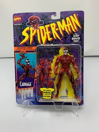 Vintage Carnage Action Figure from the 90's Spider-Man The Animated series (Brand New) Washington, 20016