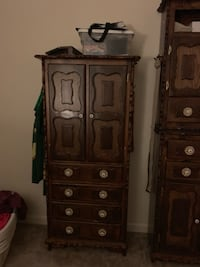 brown wooden cabinet with drawer 48 km
