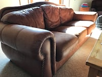 Walter E. Smithe leather sofa. Message me for pick up Wauconda, 60084