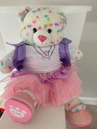 Build a Bear Confetti Cupcake Bear and Clothes