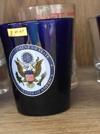 blue Department of State U.S.A. glass cup Stephens City, 22655
