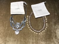 Silver-colored necklace and earrings Hacienda Heights, 91745