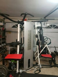 white and red Bowflex exercise equipment Vancouver, V5M 2P7