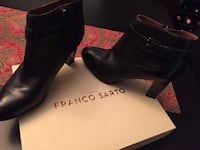 Black leather franco sarto heeled boots with box Brampton, L6Y 0C4