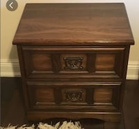 brown wooden 2-drawer nightstand Toronto, M3A