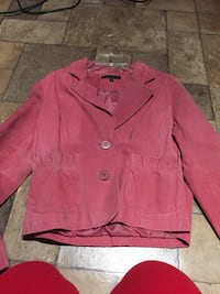 Rose Pink Brand New Lined Suede Blazer