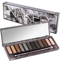 brown and black Naked makeup palette with box