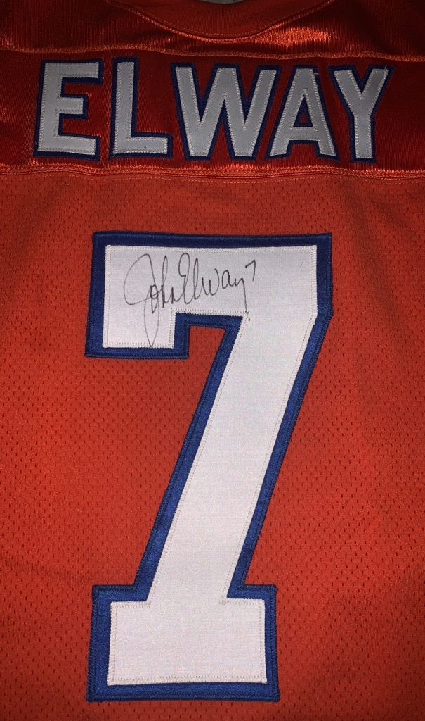 Photo AUTHENTIC Wilson - 1995 Prestige Team Autographed John Elway Jersey