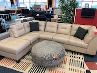 New 2pc Beige Leather Sectional Virginia Beach, 23462