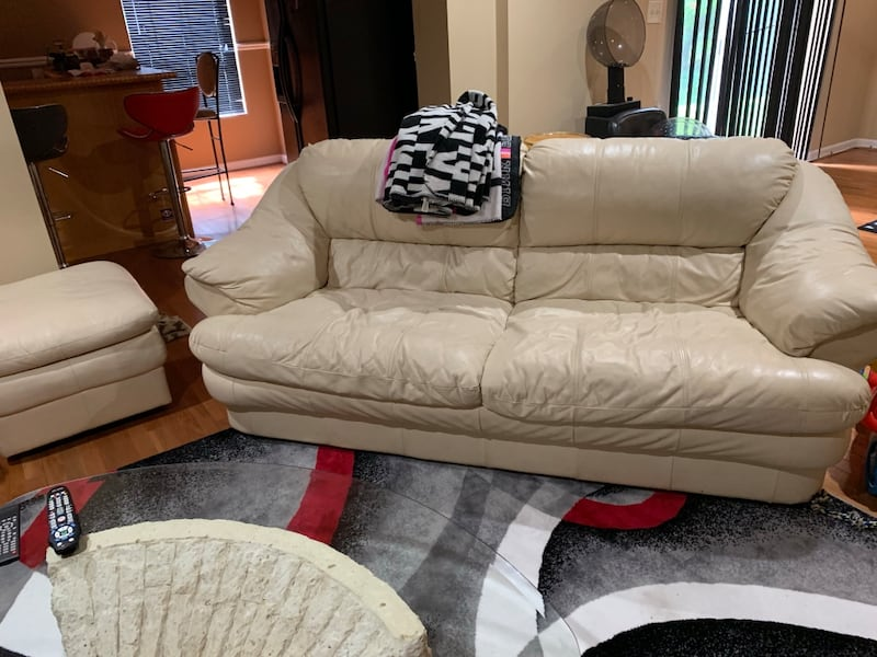 2 piece off white couch with ottoman d133b2c6-c57e-4db2-8827-020f453ea775