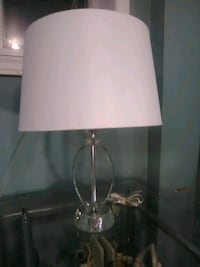 crystal lamp with white  linen shade  Burlington, L7R 3P8