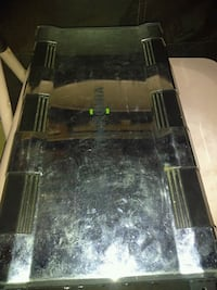brown wooden framed glass top coffee table Oklahoma City, 73119