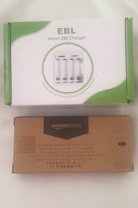 AA rechargeable batteries & battery charger (brand new) Dollard-des-Ormeaux, H9G 2X3