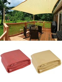 New $40 each Square 16'x16' Sun Shade Sail Outdoor Canopy Patio Top Cover (2 Colors) South El Monte