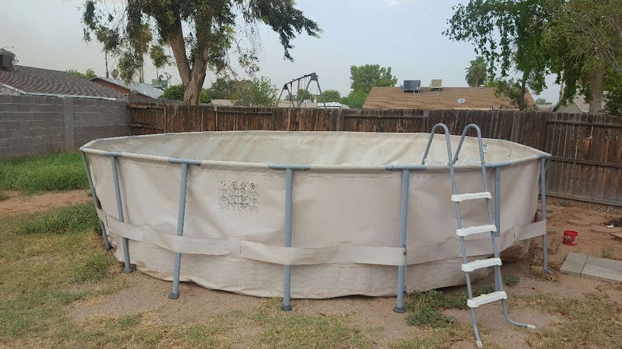 Letgo white above ground pool in mesa az for Pool fill in mesa az