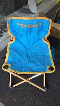 green and beige Tot Spot camping chair