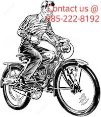 Bike with motor installer. Comes with 40cc Covington