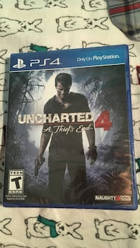 Uncharted 4: A Thief's End PS4 game case Fox Lake, 60020