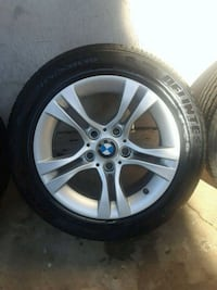 2008 BMW Factory alloy wheels and tires  2258 mi