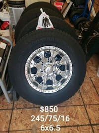 "16"" New Rim and tires 6x6.5 ---------245/75/16 Clifton, 81520"