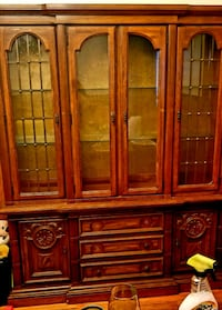 Large wooden China cabinet  Carnegie, 15106