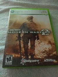 Call of Duty Modern Warfare 2 Xbox 360 game case Burlington, L7M