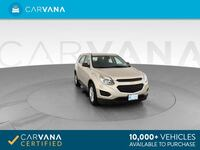 2016 Chevy Chevrolet Equinox suv LS Sport Utility 4D Silver Brentwood