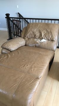 Brown leather chaise lounge chair Edmonton, T6M 0N6