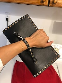 black and brown leather crossbody bag Richmond Hill