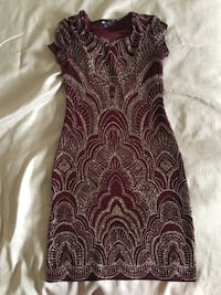 Maroon brand new party dress  Toronto, M1C 4K5
