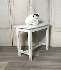Side table.  Small bench