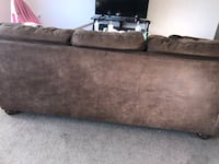 Brown fabric 3- seat sofa Willing to negotiate price
