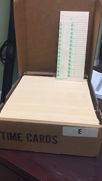 Punch clock Time Cards set in box