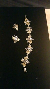 Sterling silver bracelet with earring Mexico